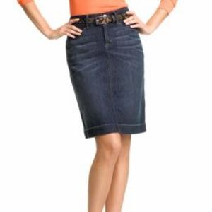 Banana Republic Dark Wash Denim Pencil Skirt